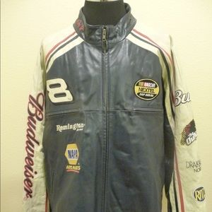 Dale Earnhardt Jr Budweiser 2XL Leather Jacket
